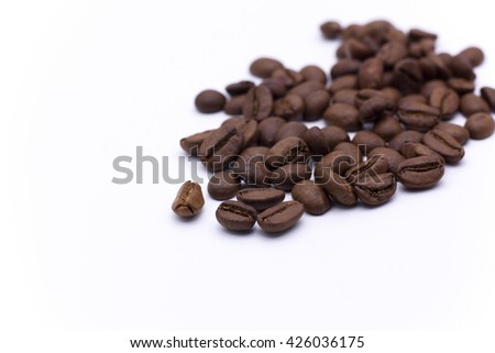coffee beans,drink - stock photo