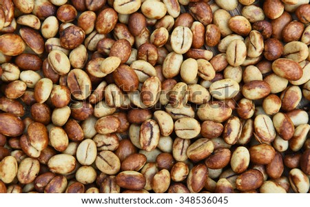 Coffee beans for backgrounds or textures