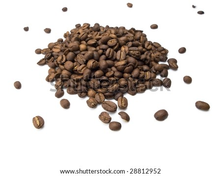Coffee beans in a nice fashioned mound - stock photo
