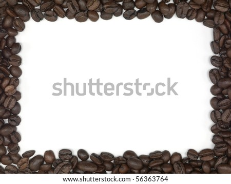 Coffee beans in the shape of a frame - stock photo
