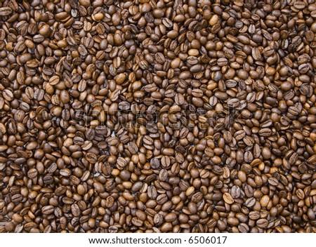 coffee beans make pattern,macro - stock photo
