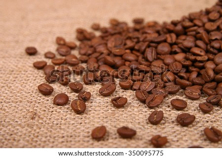coffee beans on hemp