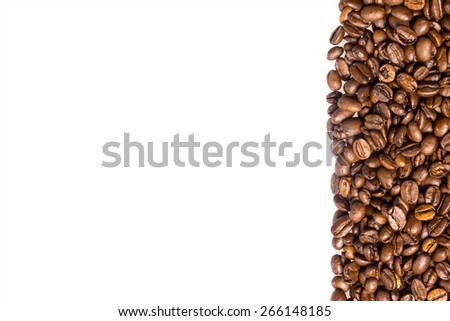 Coffee beans right - stock photo