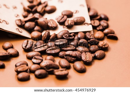 coffee beans.Roasted coffee beans goals