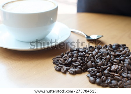 Coffee Beans Selective focus - stock photo