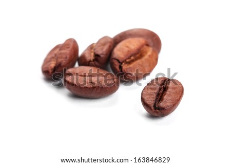 coffee beans, shallow dof