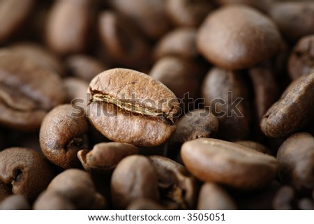 Coffee beans, short depth-of-field