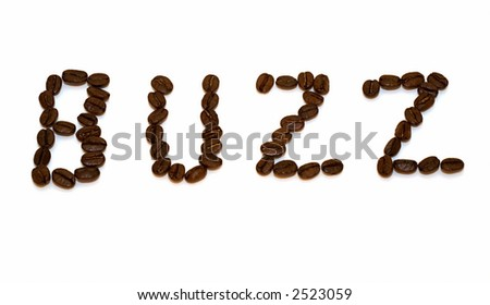 Coffee beans spelling out what you're gonna get...
