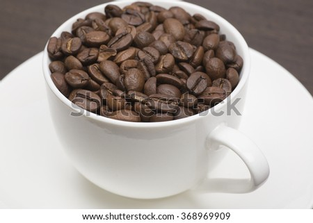 Coffee beans spilling