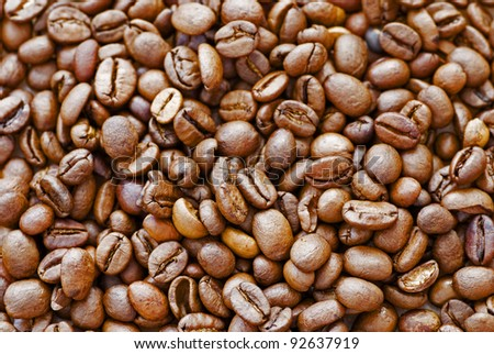 coffee beans to use as background - stock photo
