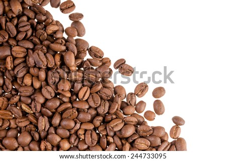 Coffee beans with copy space / Coffee - stock photo