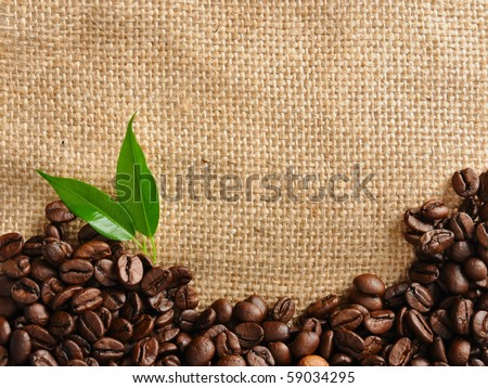 coffee border - stock photo