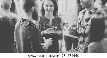 Coffee Break Business Cafe Celebration Event Party Concept - stock photo