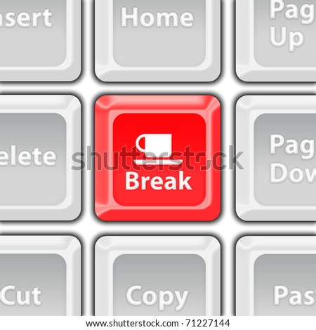coffee break button - stock photo