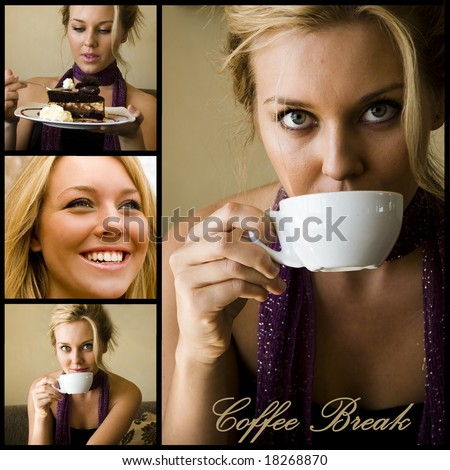 Coffee break design - stock photo