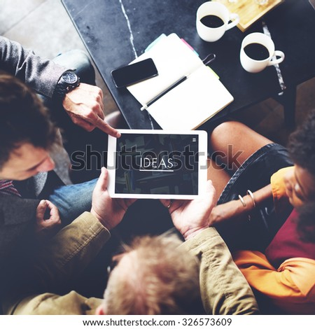 Coffee Break Ideas Creative Webpage Team Concept - stock photo