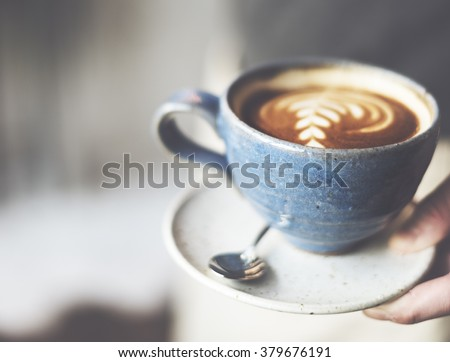 Coffee Cafe Caffeine Cappuccino Freshness Cup Concept - stock photo