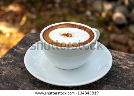Coffee cappuccino - stock photo