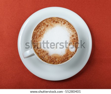 Coffee cappuccino - stock photo