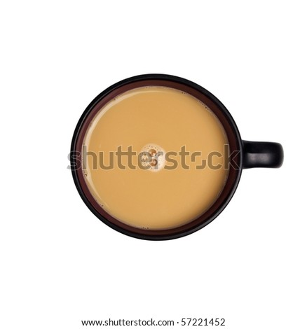 Coffee cappuccino isolated over white background - stock photo