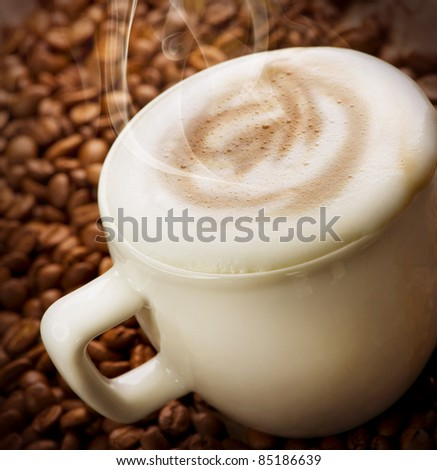 Coffee Cappuccino or Latte - stock photo
