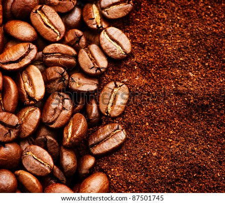 Coffee closeup background