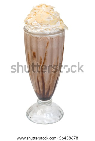 Coffee cocktail .Cocktail with icecream  ..Isolated on White Background