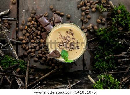 Coffee cocktail with chocolate - stock photo