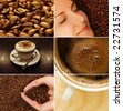 Coffee collage - stock photo