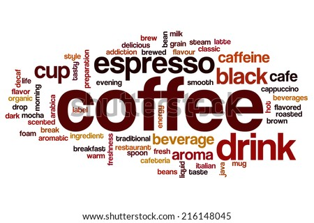 Coffee concept word cloud background - stock photo