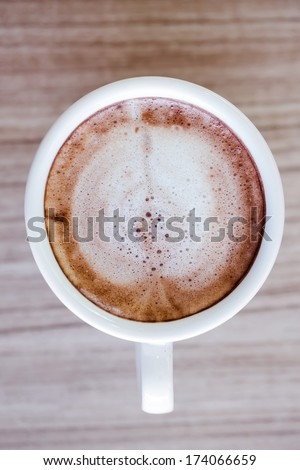 Coffee cup, A cup of hot chocolate - stock photo