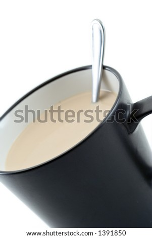 Coffee cup against white background