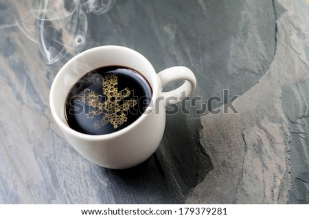 coffee cup and a yen symbol  - stock photo