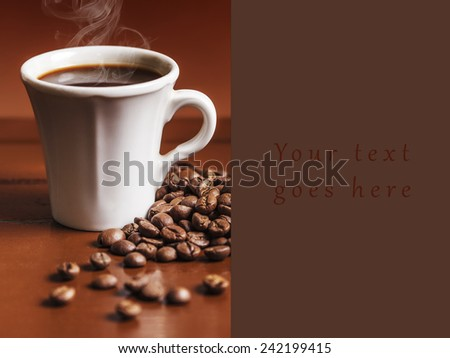 Coffee cup and beans 2 card