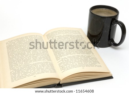 coffee cup and book