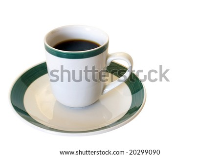 Coffee cup and saucer. - stock photo
