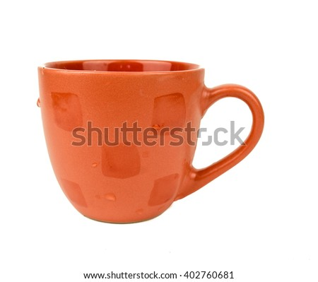 coffee cup assortment / cup of coffee / cup of coffee over white background /  coffee cup over white background / Coffee cup and saucer on a white background  - stock photo