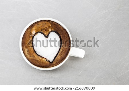 coffee cup background - stock photo