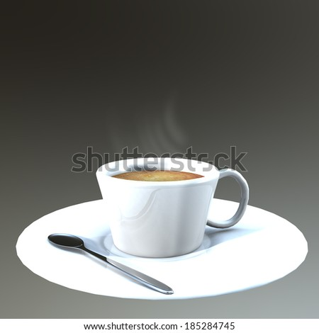 Coffee cup Dark background.
