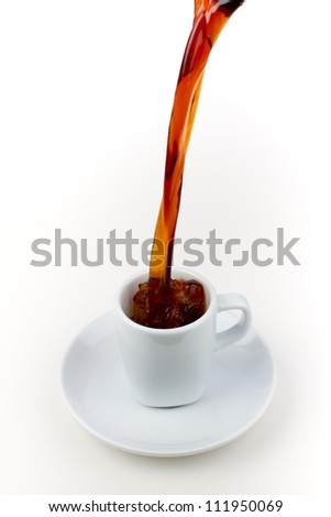 coffee cup, expresso - stock photo