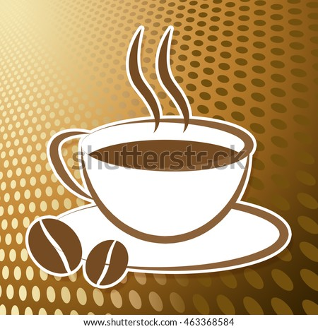 Coffee Cup Icon Meaning Symbol Cafe Stock Illustration 463368584