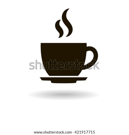 coffee cup icon. Raster version - stock photo