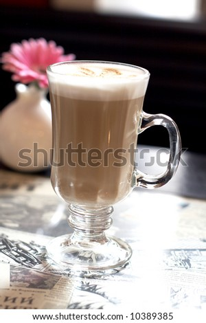coffee cup in cafe - stock photo