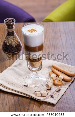 Coffee cup in coffee shop - stock photo