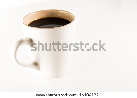coffee cup in isolated - stock photo