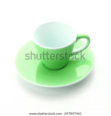 coffee cup in white background