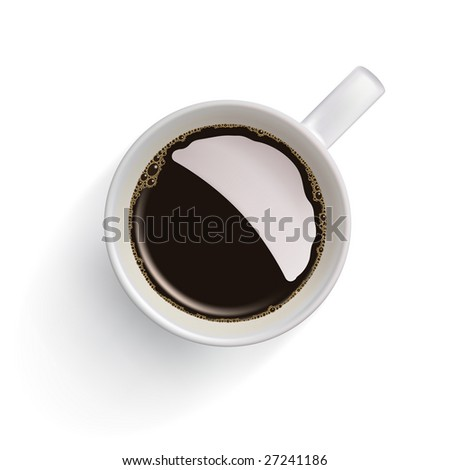 Coffee cup isolated on white. Clipping path around the cup. - stock photo