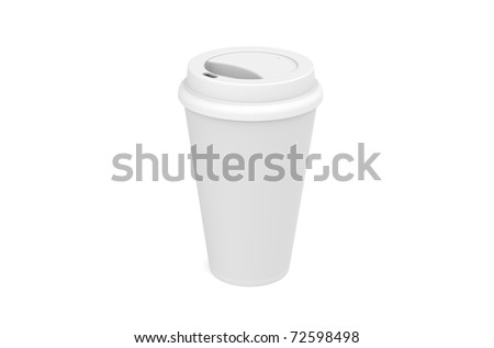 Coffee Cup, isolated on white with copy space