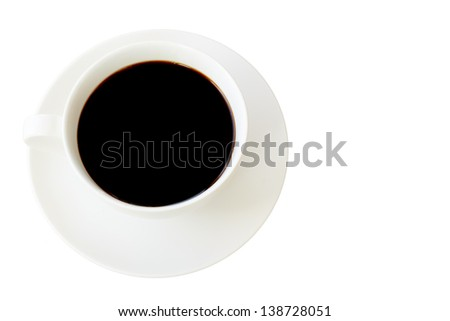 coffee cup isolated white on background