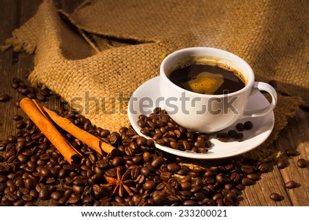 Coffee Cup Of Coffee - stock photo